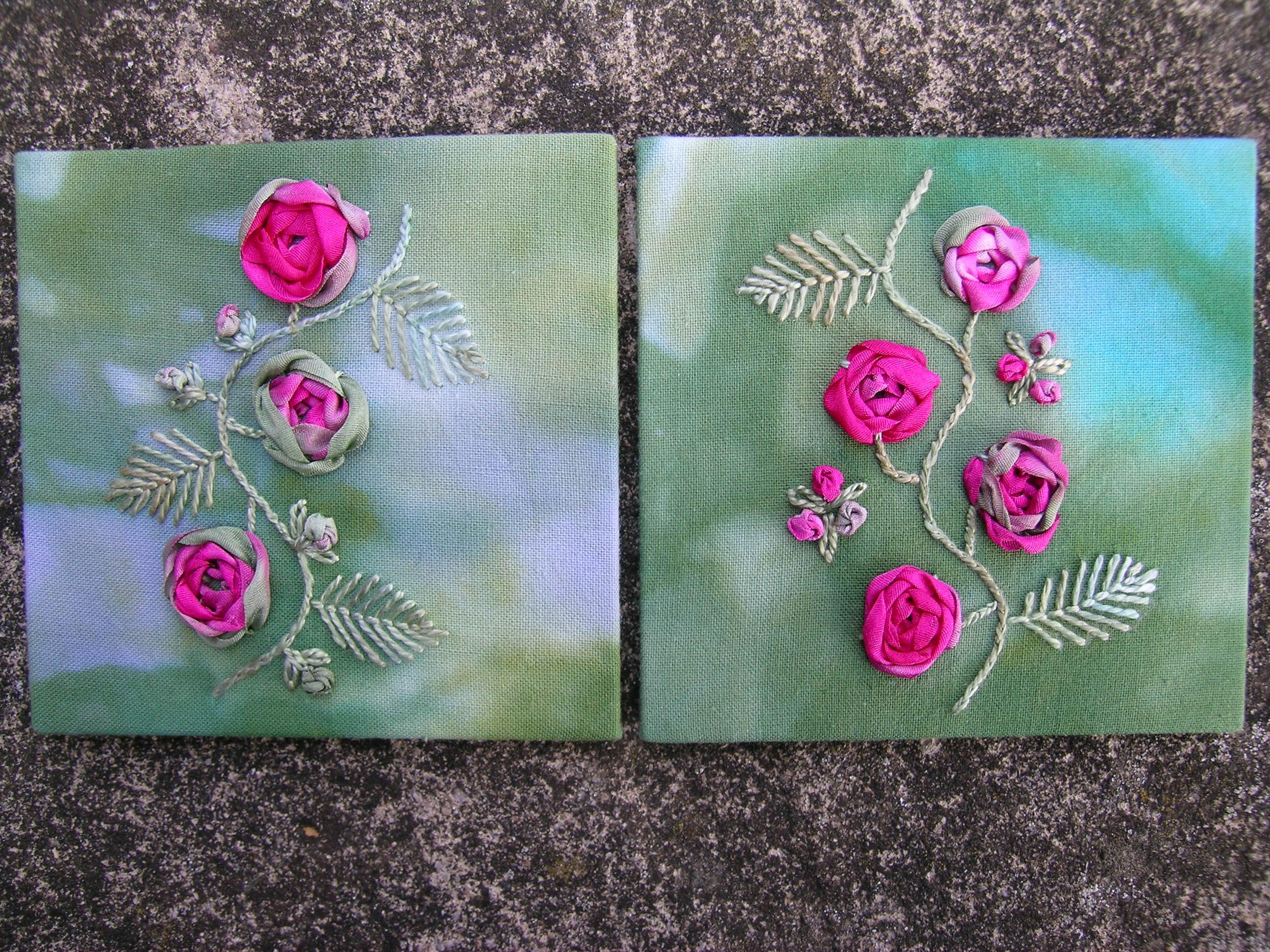 Ribbon Roses workshop 6