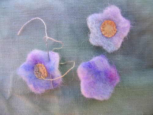 Felted flowers 5