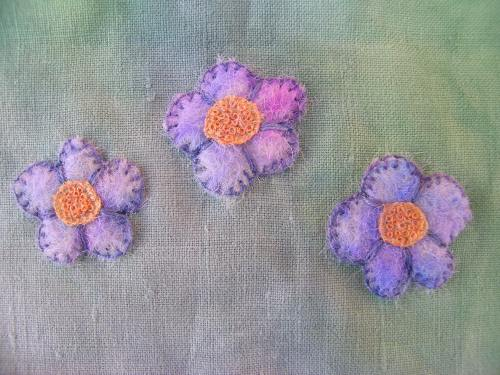 Felted flowers 6
