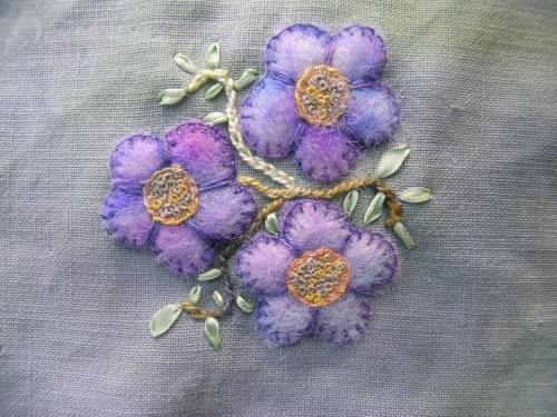 Felted flowers 2a