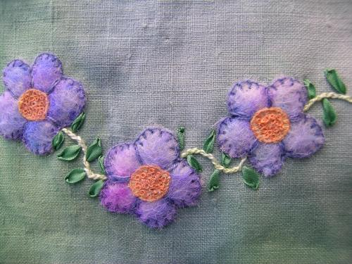 Felted flowers 2b