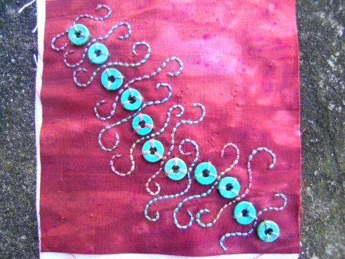 Turquoise beads block 1