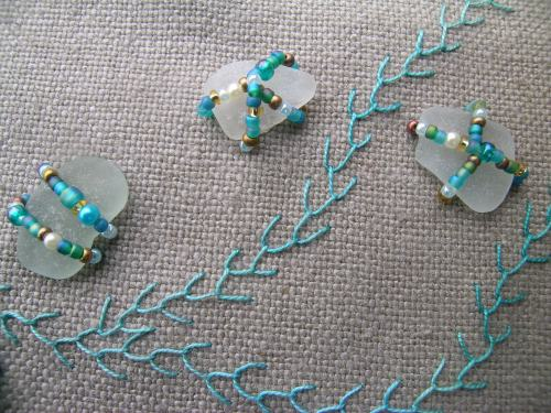 Sea glass beading 6