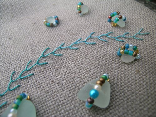 Sea glass beading 3