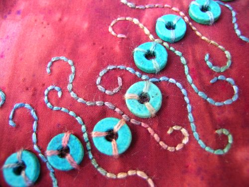 Turquoise beads block 2