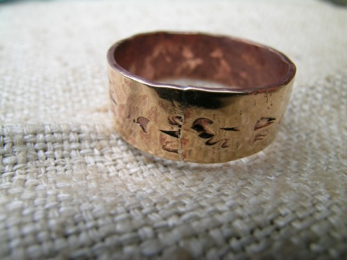 Punched and hammered ring 3