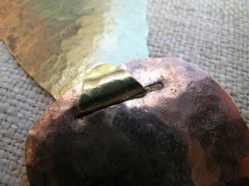 Linked hammered pendant 3