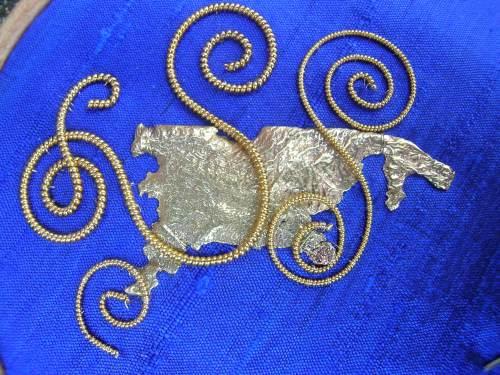 Blue spirals 3