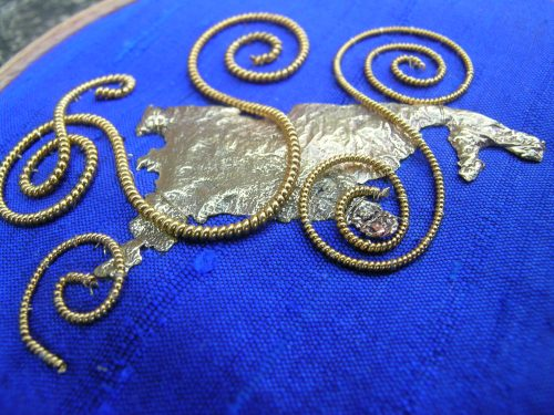 Blue spirals 4
