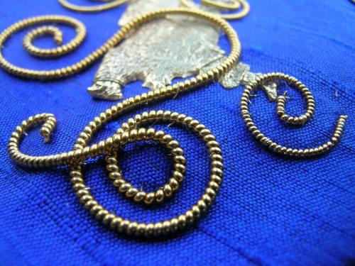 Blue spirals 6