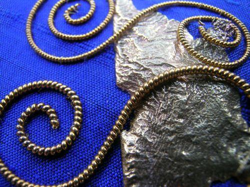 Blue spirals 7