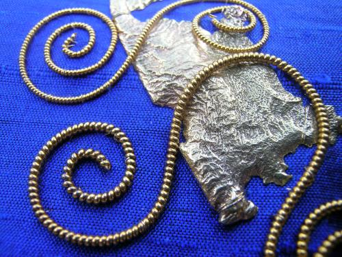 Blue spirals 8