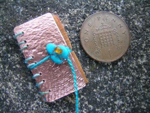 Silk and gilding metal book locket 5