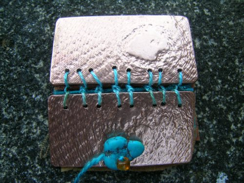 Silk and gilding metal book locket 7