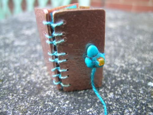 Silk and gilding metal book locket 10