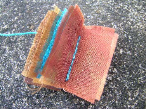 Silk and gilding metal book locket 9