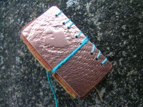 Silk and gilding metal book locket 12