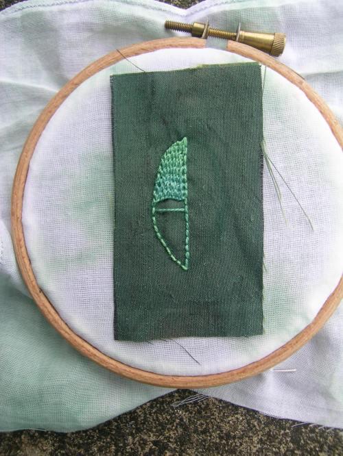 Beaded leaf 4