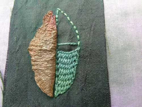 Beaded leaf 5