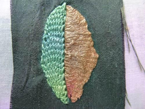 Beaded leaf 6