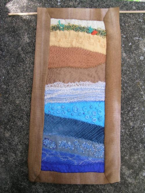 Completed Bamburgh Beach Wallhanging 1
