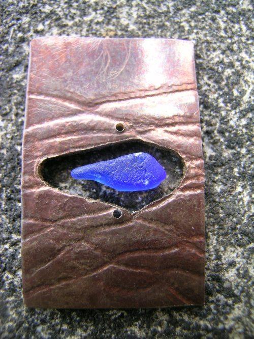 Chenille sea glass pendant 2