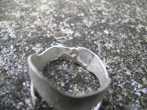 Silver acorn cup ring 6
