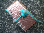 turquoise book charm