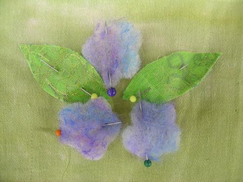 Last felted flowers 1