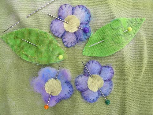 Last felted flowers 2