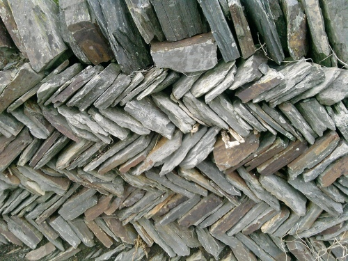 Slate wall, Tintagel 2