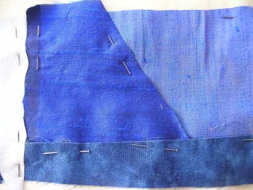 Blue crazy patchwork cushion 7