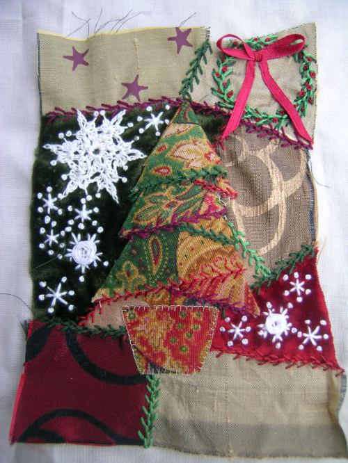 Crazy patchwork Christmas tree 2
