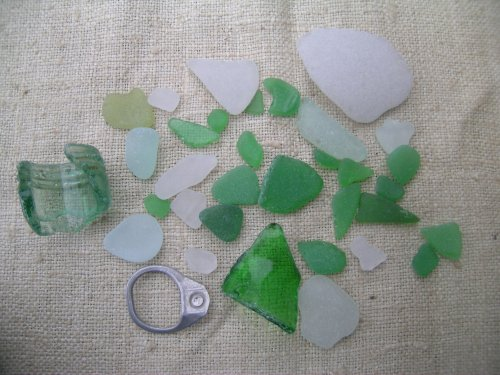 Gorleston Beach sea glass 1