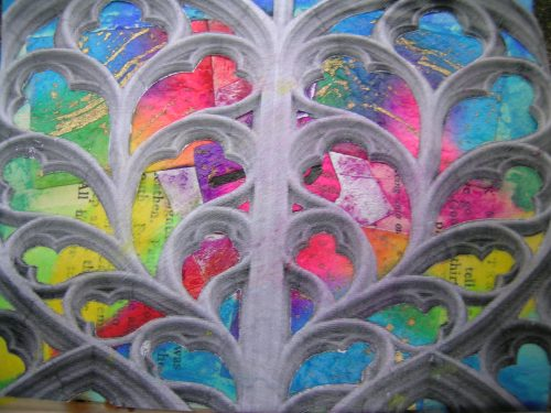 Rainbow Rose Window 1