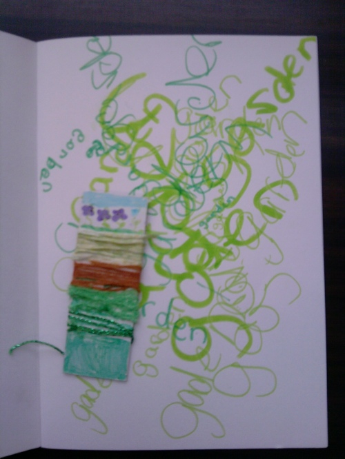 Wrapped threads - art journals 4