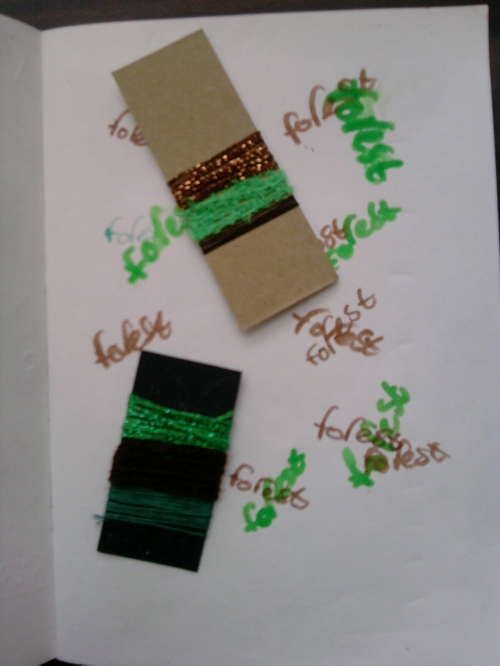Wrapped threads - art journals 5