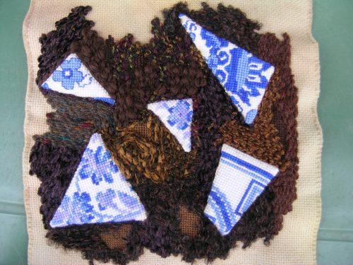 Blue pot fragments