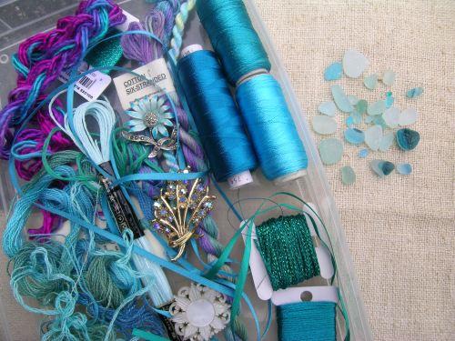Turquoise embellishments