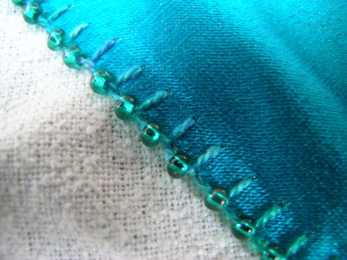 Heart with beaded buttonhole stitch 3