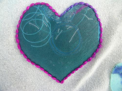 Couched heart 1