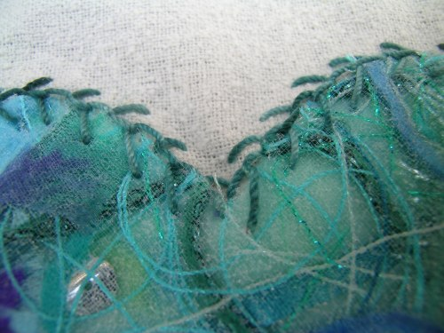 Feather stitched heart 2