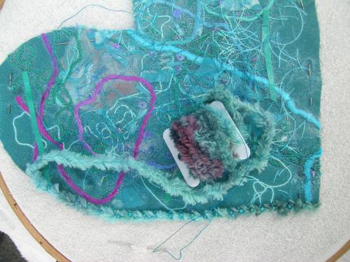 Bead couched heart 1