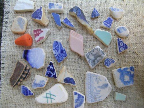 Polperro beachcombing 1