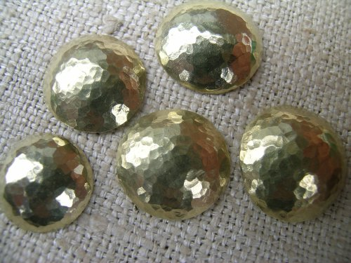 Hammered brass domes