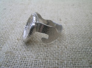 silver acorn ring