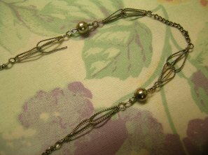 broken vintage wire necklace