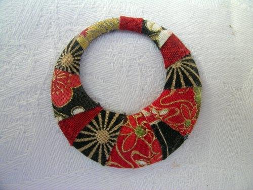 Japanese print wrapped pendant 1
