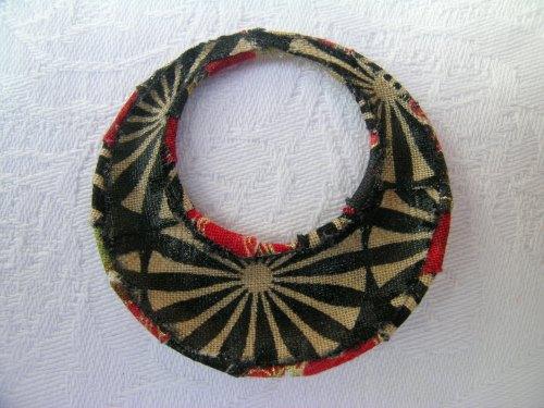 Japanese print wrapped pendant 2
