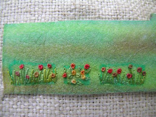 Summer meadow brooch 4